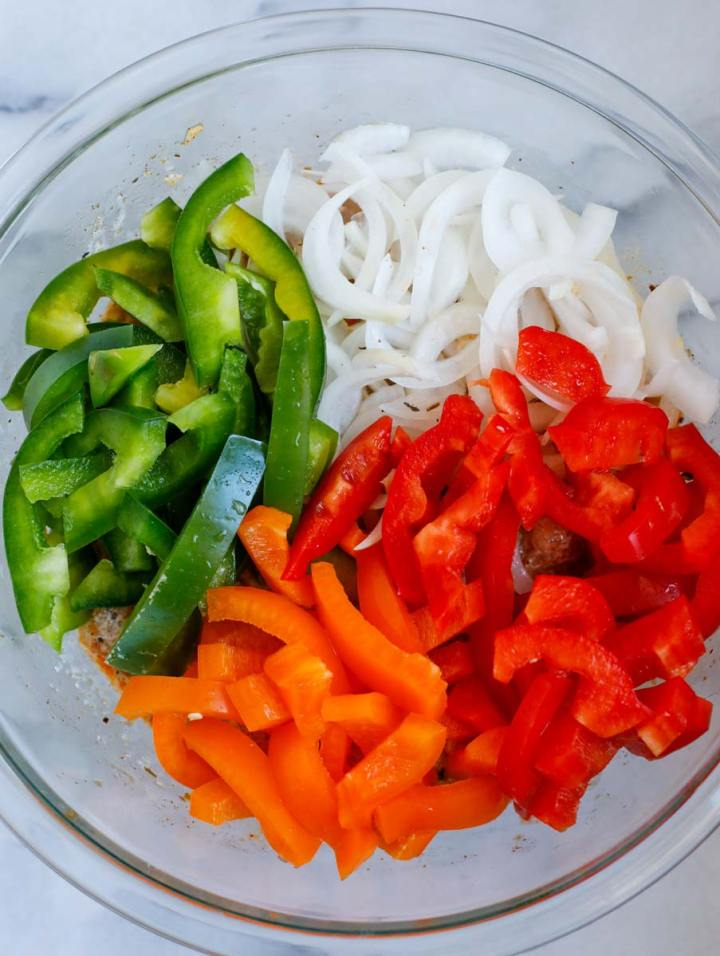 veggies for Chicken Fajita Bake