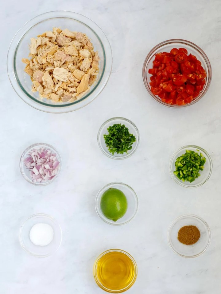 ingredients for Tuna Ceviche