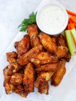 Air Fryer Chicken Wing Recipe on a white plate