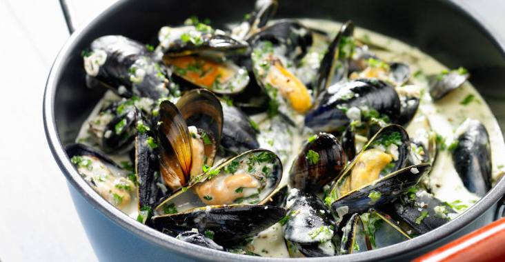 moules curry coco