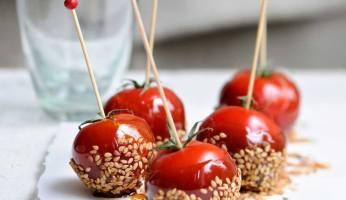 tomates cerises aux sésames