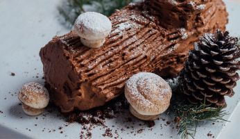 Bûche au chocolat et aux épices