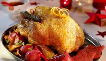 chapon de Noël aux épices