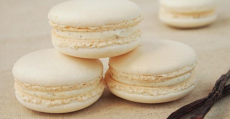 Macarons vanille cardamome