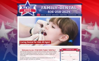 Children's Dentist Website