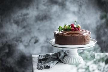 Chocolate Marble And Mayonnaise Celebration Cake With Dark Chocolate Ganache - Cook Republic