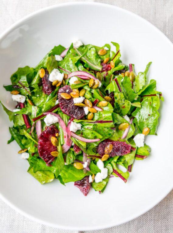 Dandelion Greens and Blood Orange Salad