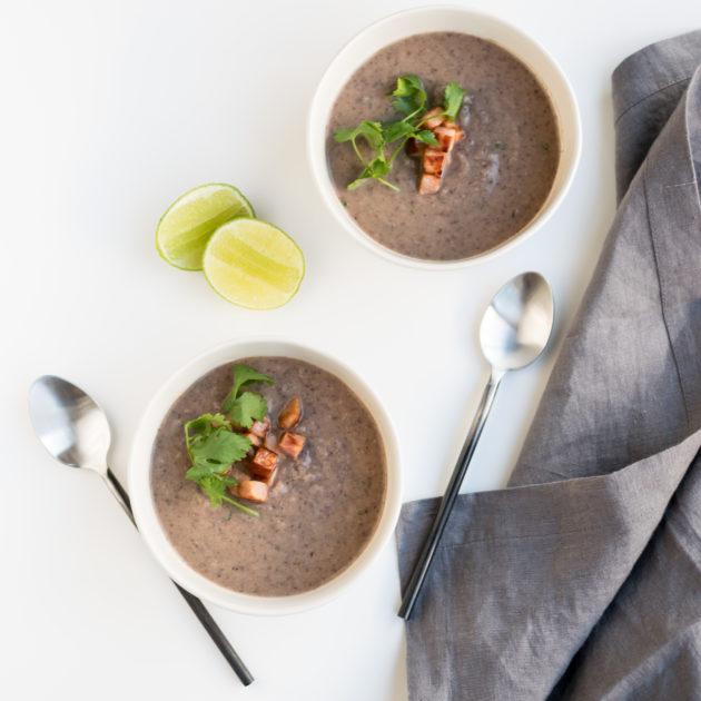 Black Bean and Cauliflower Soup