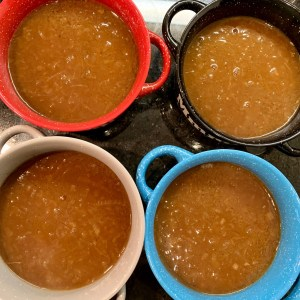 soup in crocks