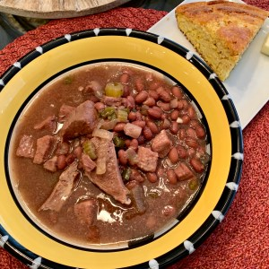 Red Bean soup and cornbread