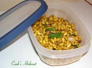 Warm Soybeans Salad