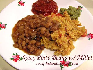 Mexican Millet with Spicy Pinto beans