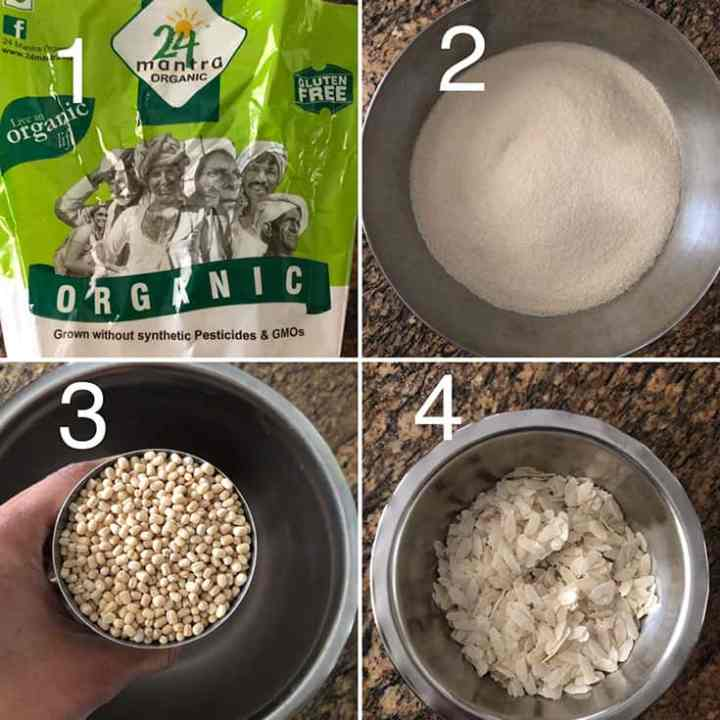 Step by step photos for making Idli