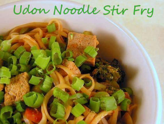 Tofu-Udon Noodle Stir fry