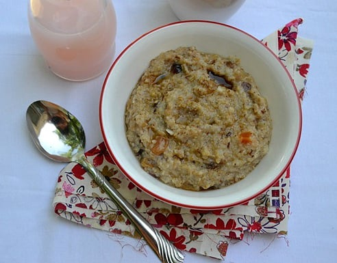 Five Grain Cereal with Dried Fruit