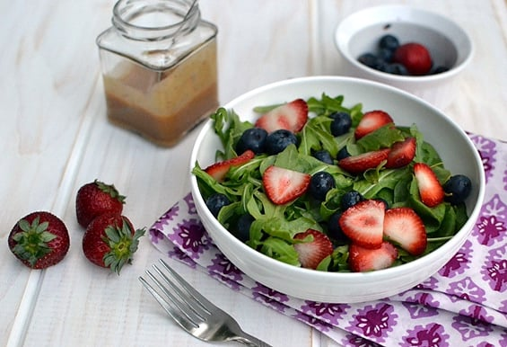 Strawberry-Arugula Salad with Fruity Jam Dressing