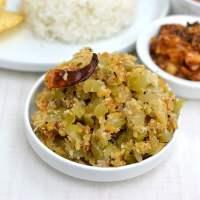 Sorakaya Pesarapappu Podi Kura (Lauki/ Doodhi Moong dal Subji)