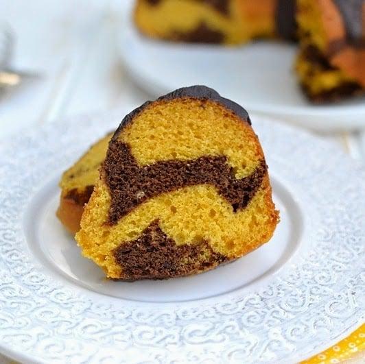 Mango-Chocolate Marble Bundt Cake