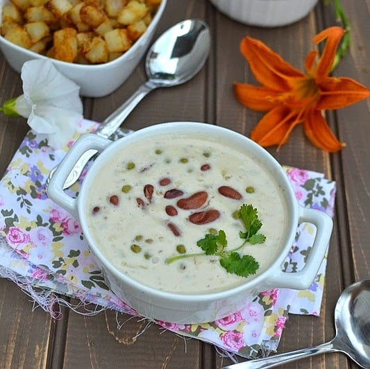 Rajma Mutter (Kidney Beans & Green Peas with Yogurt & Cream)