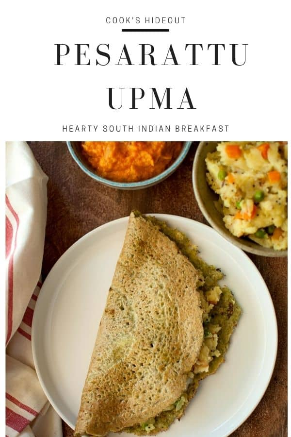 Pesarattu and upma