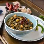 Andhra style Greens & Chickpea Curry (Chukkakura & Gongura Senagala Kura)