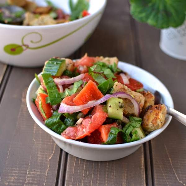 Greek Panzanella (Bread Salad)