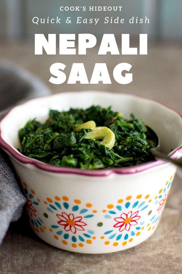 Bowl of Nepali Saag