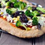 California Veggie Pizza Recipe on Whole wheat Crust