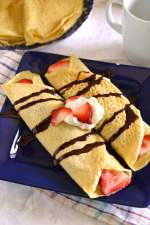 Whole wheat Crepês with Banana, Strawberry & Nutella filling