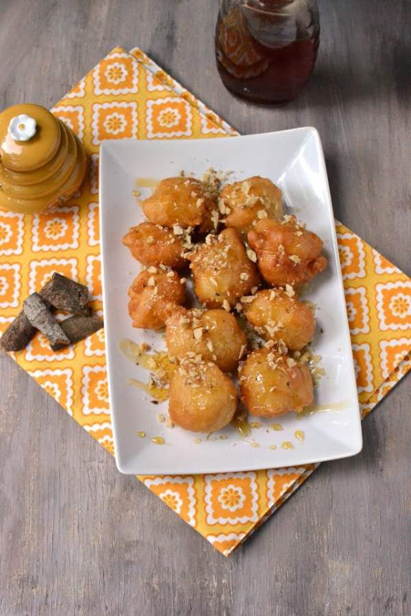 Loukoumades (Greek Donuts with Honey syrup)