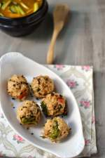 Korean Vegetarian Joomuk Bap (Korean Style Rice & Veggie Fist Balls)