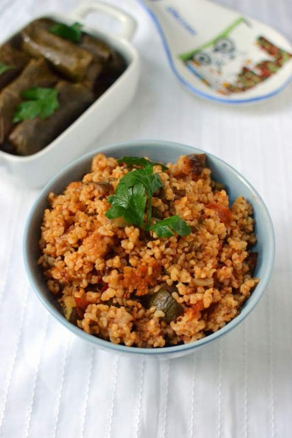Turkish Bulgur Pilaf with Veggies