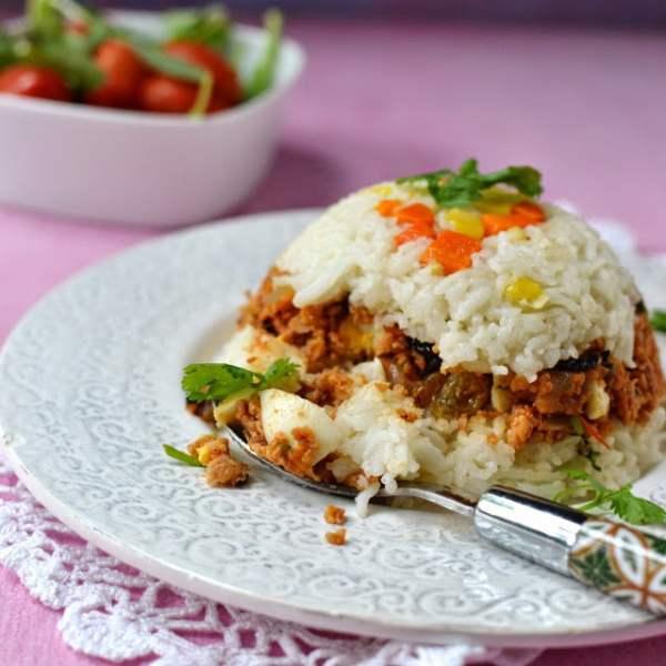 Arroz Tapado (Peruvian Rice & Soy Granules)