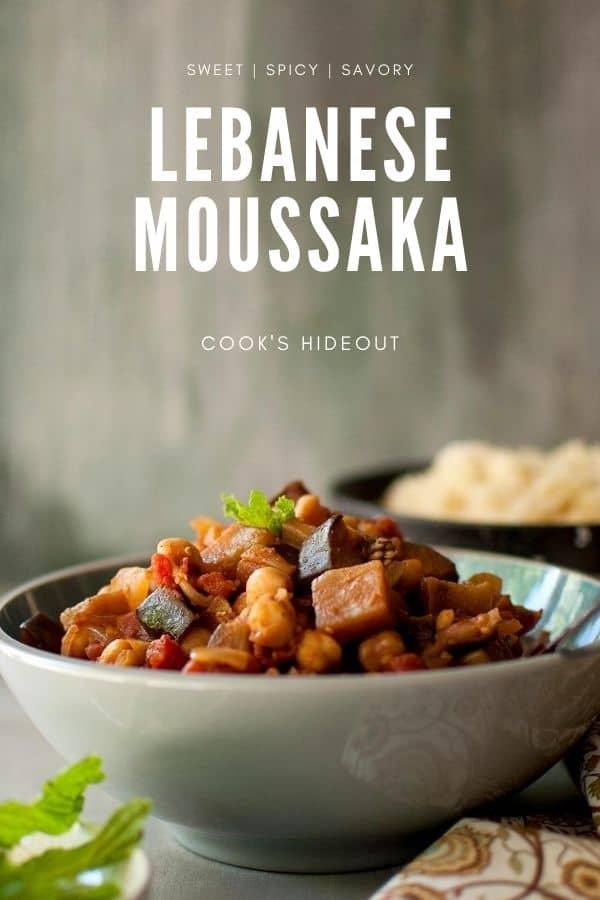 Vegetarian Lebanese Moussaka