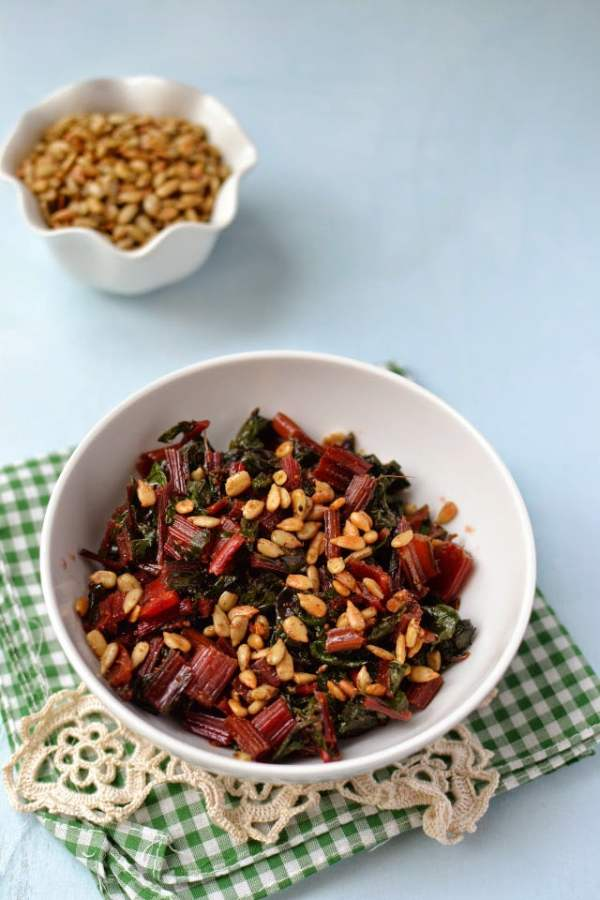 Spicy Greens with Sunflower Seeds