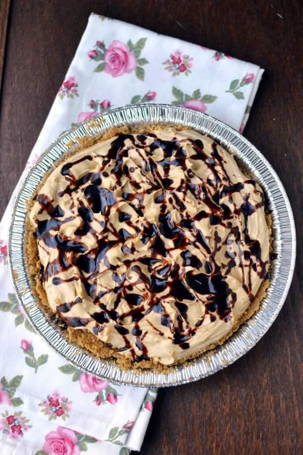 Chocolate Peanut Butter Banana Cream Pie