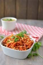 Carrot Poriyal (Carrot-Kobbari Kura)