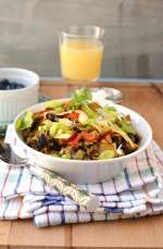Migas with Black beans