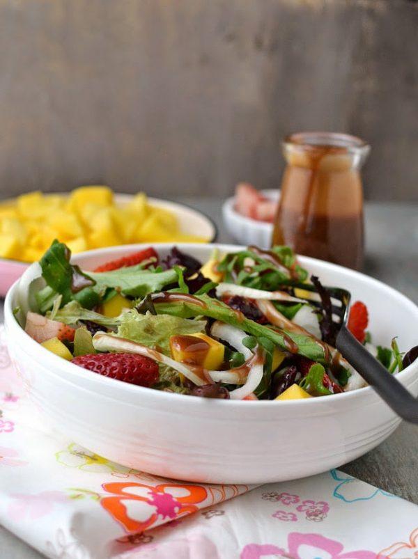 Strawberry Mango Salad with Balsamic Dressing