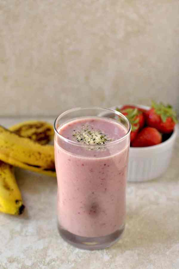 Banana Strawberry Protein Smoothie