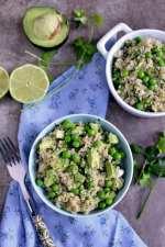 Green Quinoa Salad with Peas and Avocado