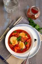 Vegetarian Paprikash with Dumplings