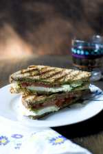 Tomato Cheese Sandwich with Pesto