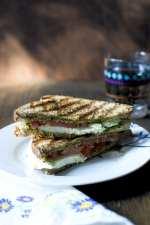 Tomato Cheese Sandwich with Pesto