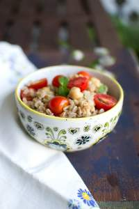 Farro Salad with Chickpeas