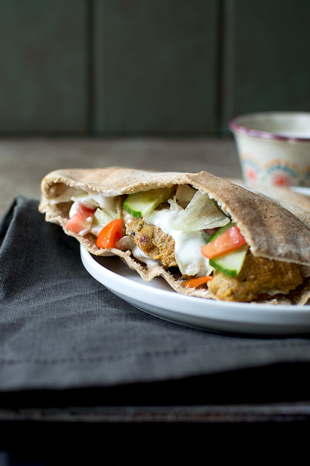 Vegetarian Doner Kebab Sandwich (with Seitan)