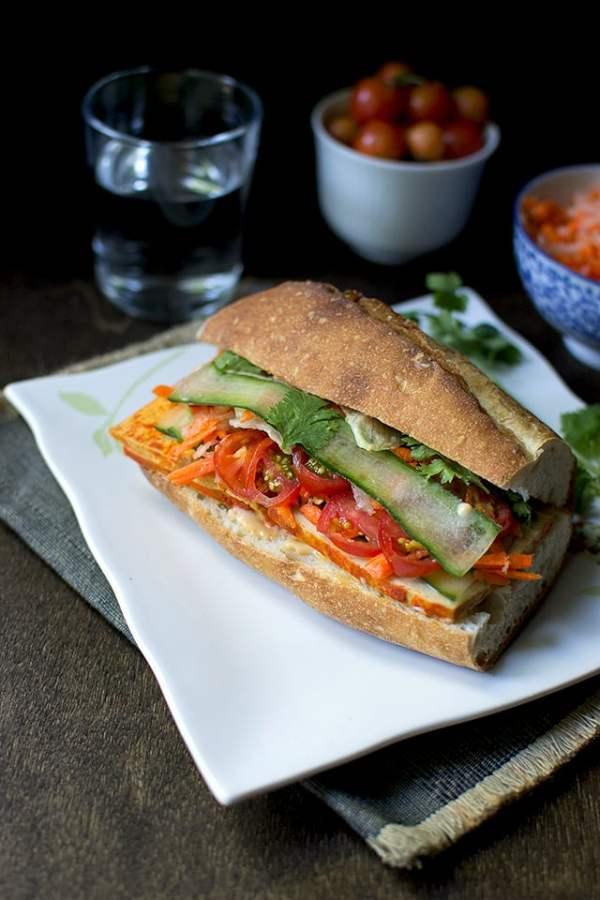 Vegan Bánh mì Sandwich