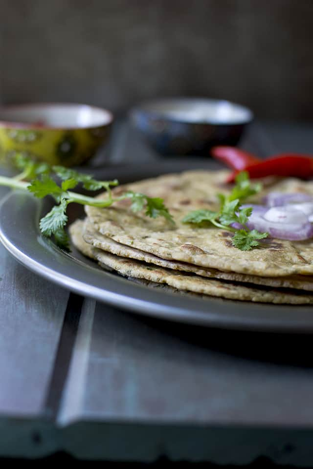 Stack of Indian unleavened flatbread