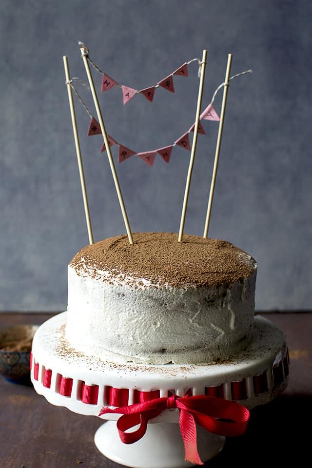 Mocha Cake with Mascarpone Frosting