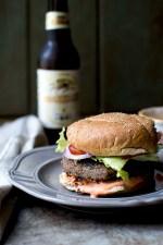 Lentil Mushroom Vegetarian Burger